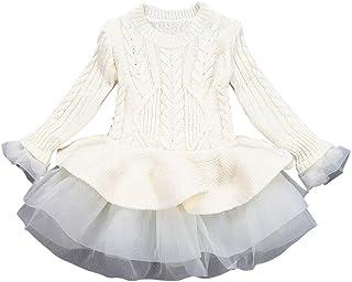 K-youth® Bebe Niños Ropa Bebe Niña Invierno Navidad Punto Manga Larga Tutú Princesa Vestido
