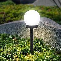 Solar light LED white round ball lawn lamp outdoor waterproof garden park villa path landscape decoration lighting lamp Christmas decorations