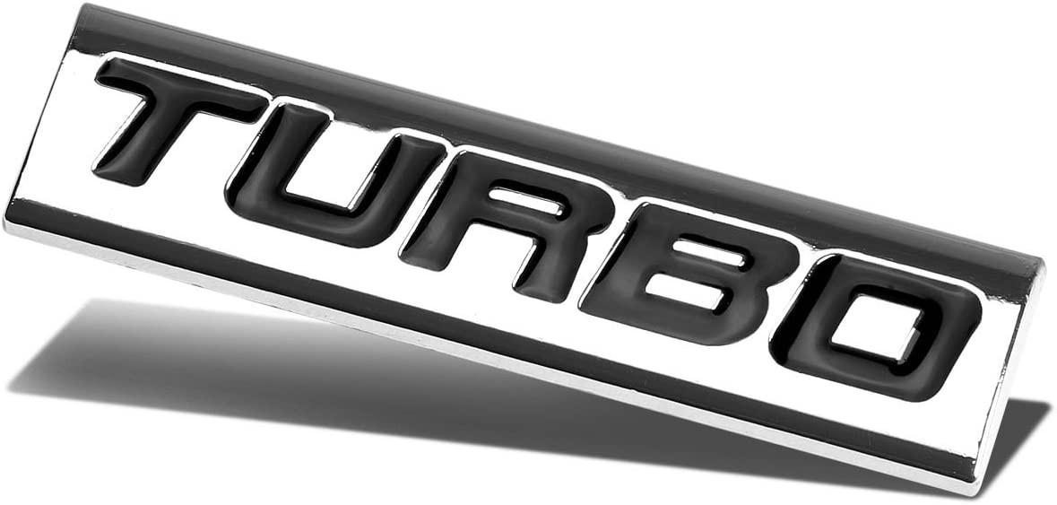Chrome At the price of surprise All items free shipping Finish Metal Emblem Black Turbo Badge Letter