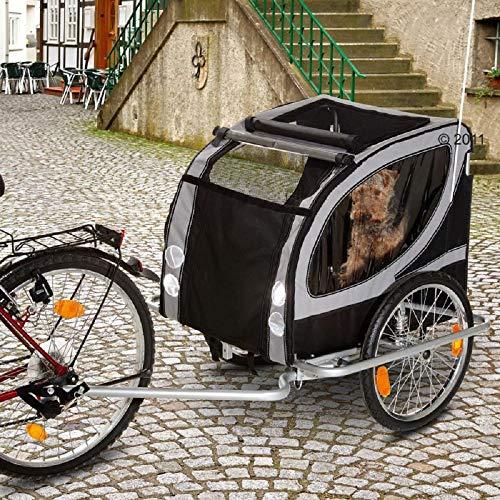PaylesswithSS Remorque de vélo pour chien résistante à l'eau jusqu'à 50 kg