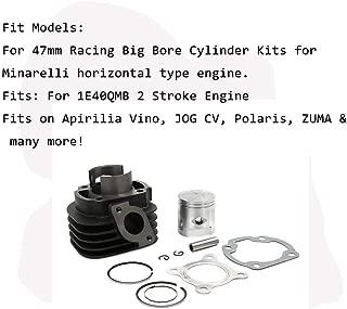 Motorcycle 47mm Cylinder piston Big Bore Kit Set For 70cc JOG 50 Yamaha Minarelli horizontal type engine 1E40QMB Stroke Engine