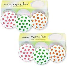 Navika Golf Balls- Polka Dots Pink, Green, and Orange Combo (2 Pack)
