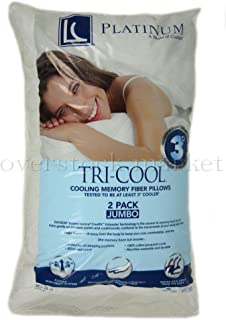 LC Platinum PLATINUM TRI-COOL MEMORY FIBER PILLOWS - KING