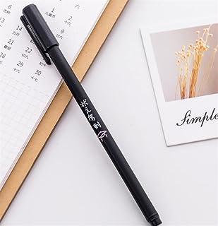 Royare of School Supplies 4Pcs/Set Personality Text Gel Pen Kit Interesting Signing Pen Student Stationery Reward (I Style)