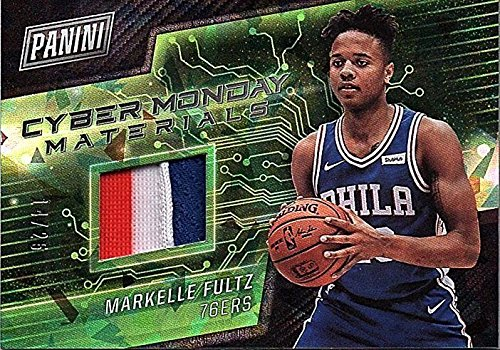 2017-18 Panini Cyber Monday Cracked Ice #MF Markelle Fultz RC PATCH Jersey 14/25 Trading Card
