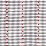 Fabulous Fabrics Halbpanama grau, Karo, 140cm breit –