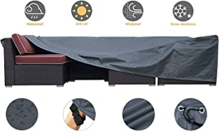 JCGARDEN Extra Large Outdoor Furniture Cover Waterproof Dust Proof Durable Patio Sectional Couch Cover Protective Loveseat Cover 128x83x28 Inch