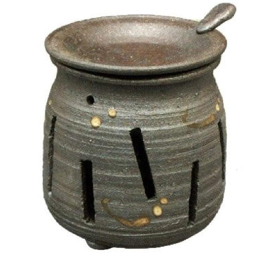 おとうさん乏しい本物の常滑焼?焜清 カ39-07 茶香炉 焼締め 約φ9×9.7cm