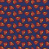 DC Comics Stoff Superman-Logo – Verkauf pro 1/4 Meter