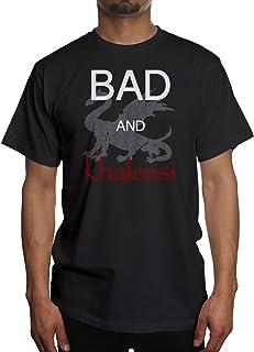 2253a7287 Young Motto Men's BAD AND KHALEESI DRAGON T-Shirt