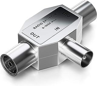 deleyCON de Distribución de Antenas T-Acoplamiento Dos Dispositivos Distribuidor para la Radio Adaptador T Acoplamiento Co...