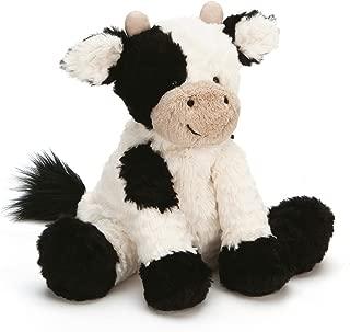 Jellycat Fuddlewuddle Cow Stuffed Animal, Medium, 9 inches