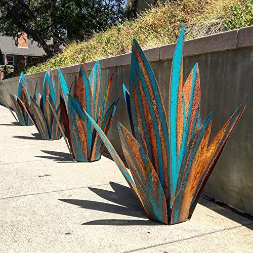 Bumplebee Blue Tequila Rustic Sculpture DIY Metal Agave Plant Garden Yard...