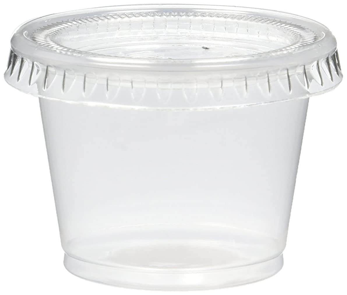 125 Count Jello Shot Souffle Cups and Lids, 1-Ounce, Translucent