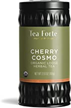 Tea Forte Herbal Retreat Organic Herbal Tea, Makes 35-50 Cups, 3.53 Ounce Loose Leaf Tea Canister, Cherry Cosmo