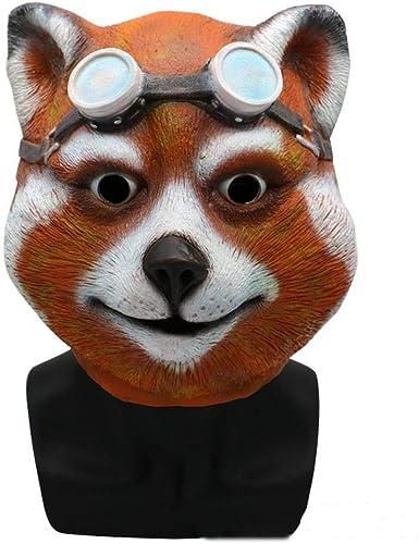 grandes precios de descuento XINXI Home Máscara Animal de Halloween Peluca Peluca Peluca Gafas de Sol Civet Cabeza Mascarada Disfraz Bailarina Rendimiento Puntales  tienda en linea