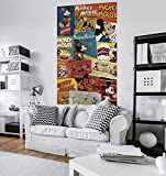 Komar Disney Vlies Fototapete MICKEY BILLBOARD   120 x 200 cm   Tapete, Wand Dekoration, Collage, Retro, Comic, Kinderzimmer, Kindertapete   VD-054
