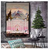 The Grand Budapest Hotel Movie Art Painting Canvas Poster Wall Home Decor -50x70cm Sin marco
