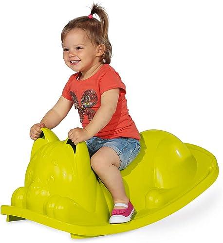 Smoby - Bascule Chat - Jeu de Plein Air Enfant - Dès 18 Mois - Assise Ergonomique - Vert - 830104
