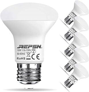 (レップセン)REPSN [3年保証]LED電球 e26口金 レフ電球 100W形相当 10W 下方向タイプ R63 レフランプ 密閉形器具対応 PSE認証済 6個入 (6個入, 昼白色)