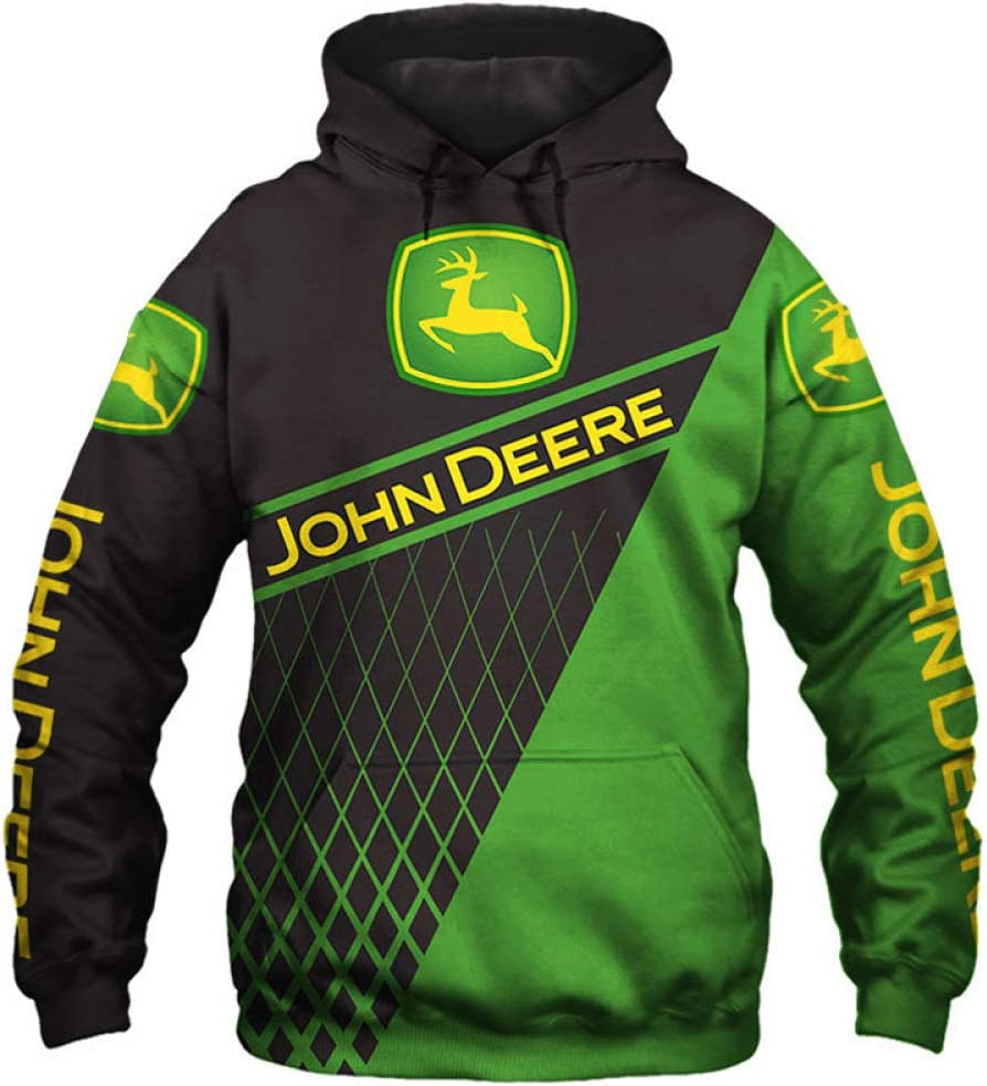 xiaosu Hombres Hoodies Chaqueta por John-Deere 3D Impresión Sudadera con Capucha Suéteres/Zip Sudadera-Fan Jersey Tops / C1 / XXXL
