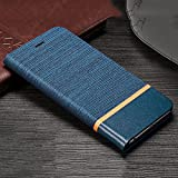 D-kandy for LeEco Le 2, Denim Series Cloth + Leather Flip Wallet Case Stand with Card Holder & Magnetic Closure Flip Cover for LeEco Le 2 - (Cloth Blue)
