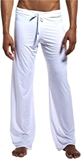 MIEAHORY Mens Ice Silk Satin Pajama Bottoms Pajama Pants Soft Smooth Sport Yoga Pants Pyjama Trouser
