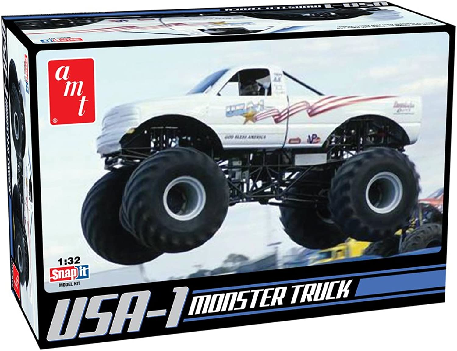 AMT AMT672 1 25 USA1 4X4 Monster Truck with New DecalsSNAP KIT