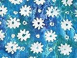 Seersucker Kleiderstoff mit Blumenmuster, Baumwolle,