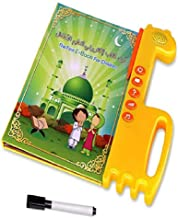 Salamsore Learning Quran Machine - Quran Learning Tablet, E-Book Drawing Pad Musical Toy Kids' Learning Arabic/ English,Educational Toy for Child Development,Learn Numbers!