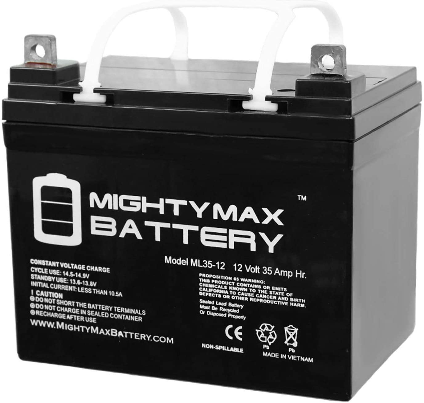 Mighty Max Battery 12V 35Ah U1 Invacare Pronto M50, M51, M61, M71, Booster Battery Brand Product