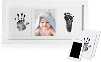 Babyprints Newborn Baby Handprint and Footprint Photo Frame Kit,Perfect for Baby Boy Gifts,Top Baby Girl Gifts, Baby Shower Gifts, Newborn Baby Keepsake Frames