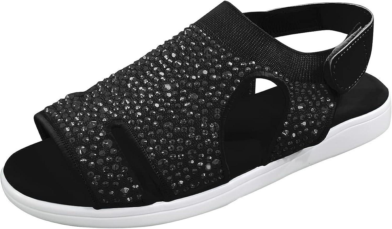 USYFAKGH Sandals For Women Womens Ladies Wedge Peep Toe Hook ïÂ