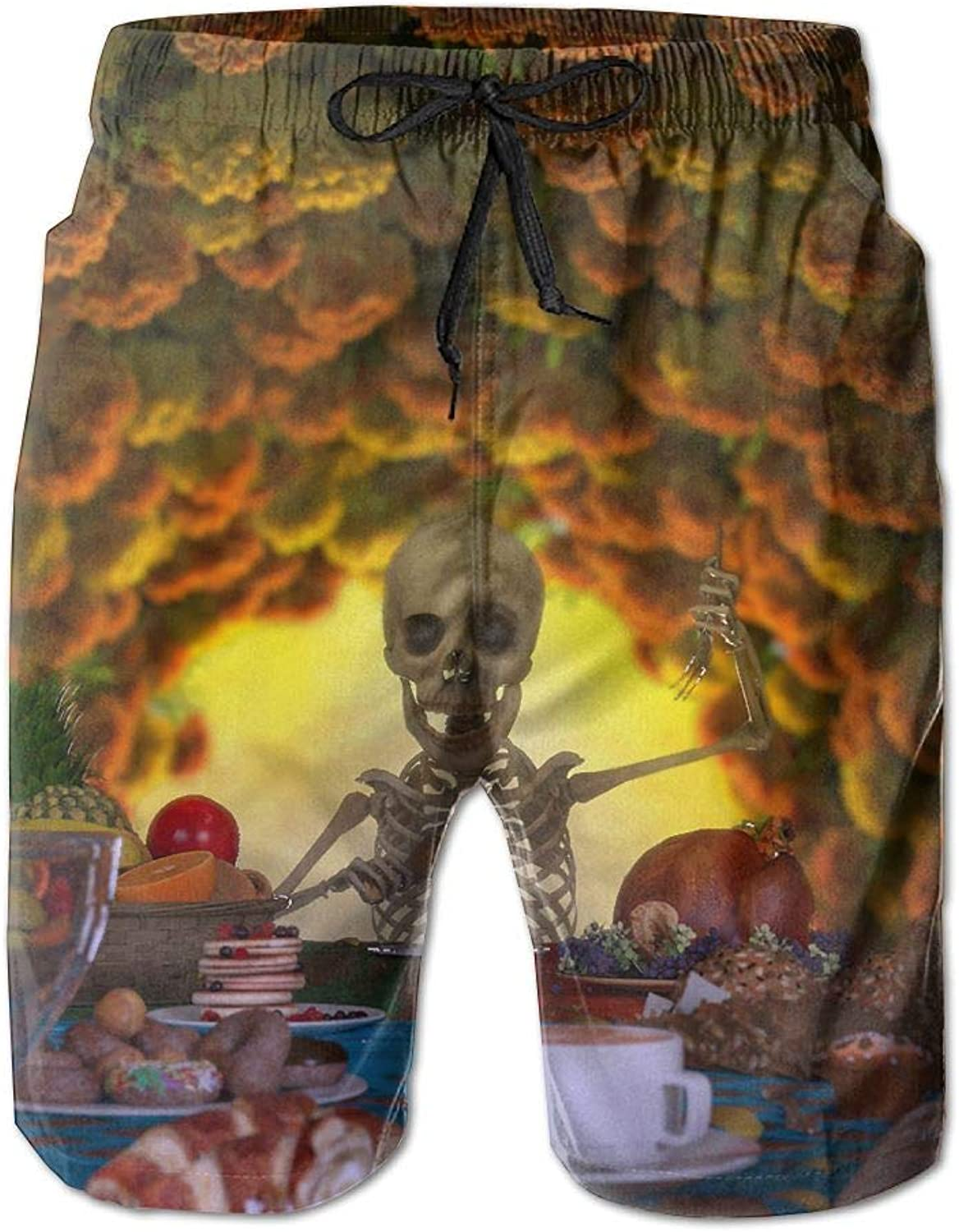 73afe3d30ff69 Quick Dry Men's Beach Board Shorts Skulls Surfing Surfing Surfing Swim  Trunks Beachwear With Pockets 4d3578