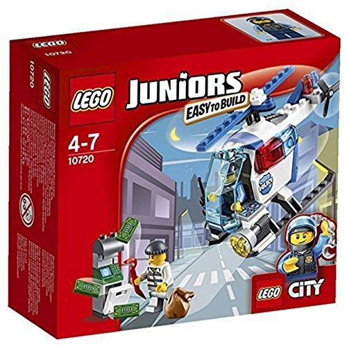 LEGO- Juniors Police Inseguimento sull'Elicottero della Polizia, Multicolore, 10720