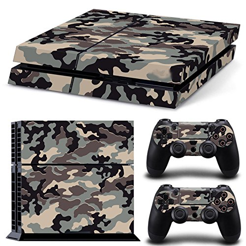 Gam3Gear Pattern Series Decals Skin Vinyl Sticker for PS4 Console & Controller (NOT PS4 Slim / PS4 Pro) - Grey Urban Camouflage