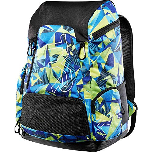 TYR Alliance: Mochila  45   diseño geométrico  Color Azul y Verde