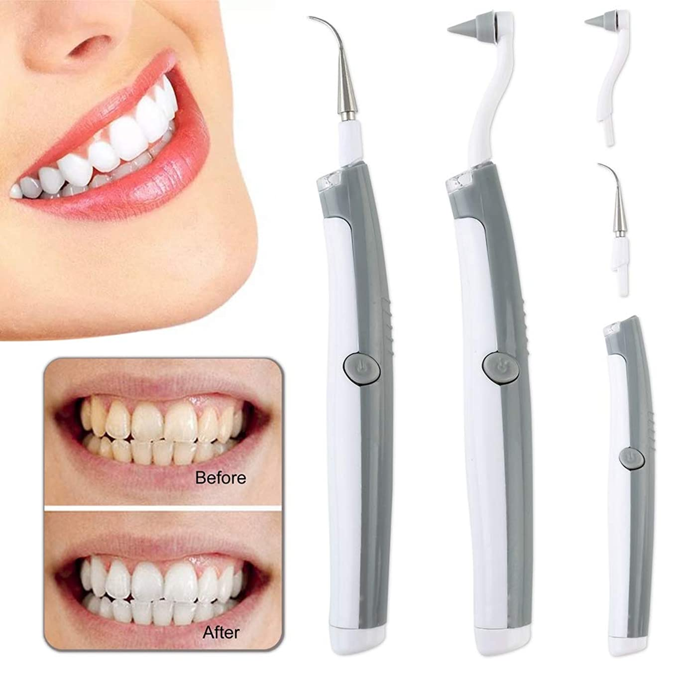 空港お願いしますハーネスSix-Bullotime 歯用ツール 電動 歯清潔 歯の消しゴム 多機能の電動のLED歯科用ツールキットオーラルケア 歯間クリーナー 歯磨き 歯石取り 口腔洗浄器 口臭防止