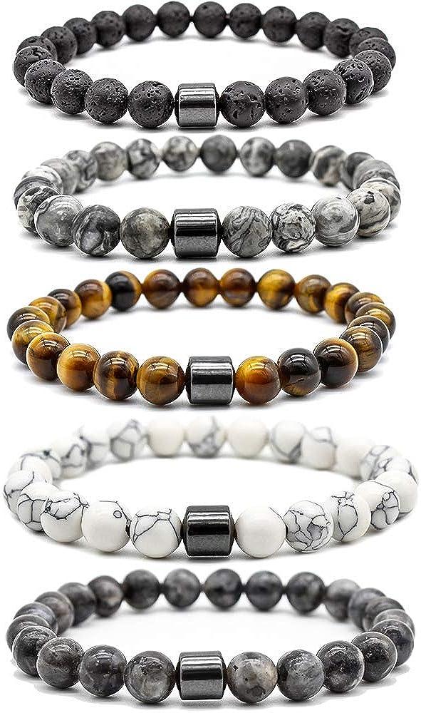 MJartoria Distance Relationship Bracelet Stretch Stone Beads Her