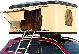 Sarada ルーフテント 車上テント カールーフテント オーバーランダーテント キャンピング 油圧昇降式 タワー型 防水性能があり 流線形 安全運転 車上泊 67kg 210cm×125cm×95cm 2mはしご付き [並行輸入品]