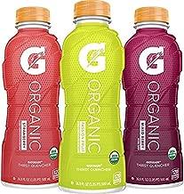 G Organic, 3 Flavor Variety Pack, Gatorade Sports Drink, Organic Hydration, USDA Certified Organic, 16.9 oz. Bottles (Pack of 12)