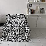 Throw Blanket Dalmatian Dog Print High-End Touches Blanket Black and White Puppy Spots Fur Pattern Fun Spotted Pets Animal Desing for Couch Sofa Bed Chair White Black 40x60 Inch