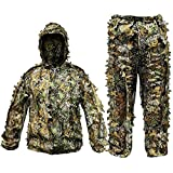 Best Ghillie Suits - Ghillie Suit Camouflage Hunting Suits Outdoor 3D Leaf Review