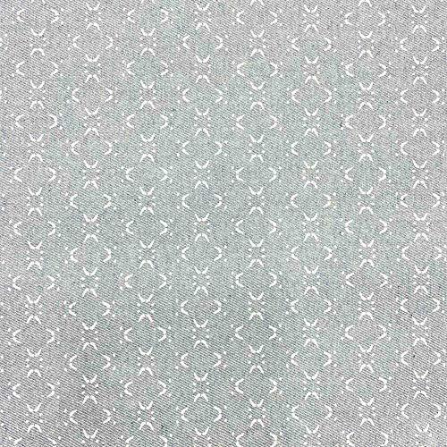 Tela loneta reciclada twill - Reciclado de vaqueros - 98% algodón reciclado, 2% otras fibras (72% GRS) - Retal de 100 cm largo x 280 cm ancho   Geométrico baldosas Caney - Blanco, gris ─ 1 metro
