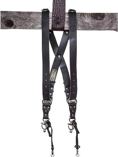 2021 HoldFast Gear Money sale Maker Water Buffalo Leather lowest Large Two-Camera Harness, Black online