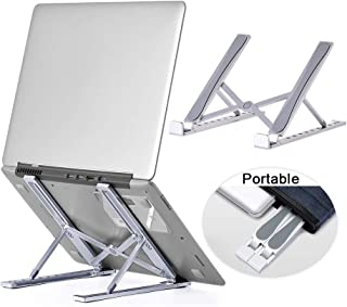 Folding Laptop Stand, Xcellent Global Adjustable Computer Laptop Desk Mount Holder, Ergonomic Tablet Riser, Foldable Venti...