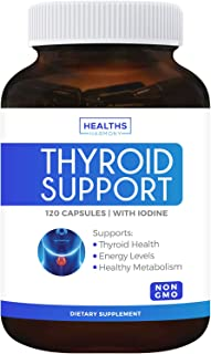 Thyroid Support with Iodine (120 Capsules & Non-GMO) Improve Your Energy & Increase Metabolism for Weight Loss - Ashwagand...