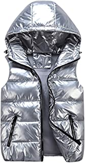 Winter Warm Vest, Parent-child Wear Winter Vest Outdoor Shiny Waterproof Windproof With Hat Sleeveless Jacket (cotton) (Co...