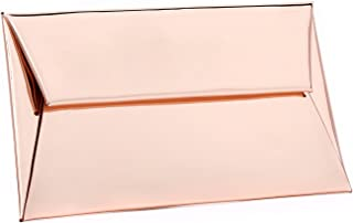 rose gold and silver clutch bag