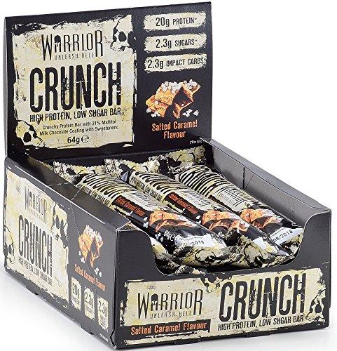 Warrior Crunch Low Carb Protein Bar Protein Bar Eiweißriegel 12x64g (Salted Caramel Karamell–For 2013)